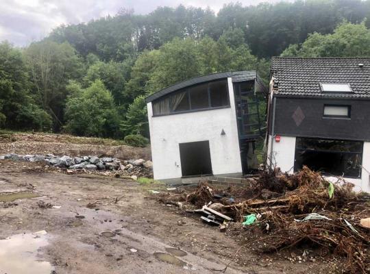 Yngvild Ingels bezocht met EHBO Vlaanderen het rampgebied na de wateroverlast in de provincie Luik